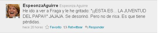 troll esperanza aguirre twitter